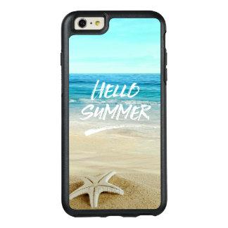 こんにちは夏のヒトデの日光のビーチ オッターボックスiPhone 6/6S PLUSケース