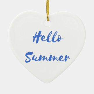 こんにちは夏 セラミックオーナメント