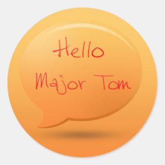 こんにちは専攻のなトム ラウンドシール