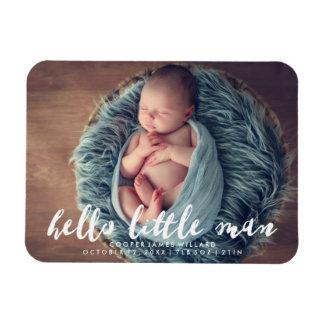 こんにちは小さい人|の写真の誕生の発表 マグネット