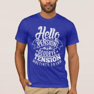 こんにちは年金のさようなら張力2018年 Tシャツ