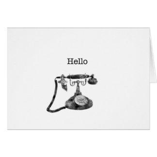 こんにちは挨拶状 カード