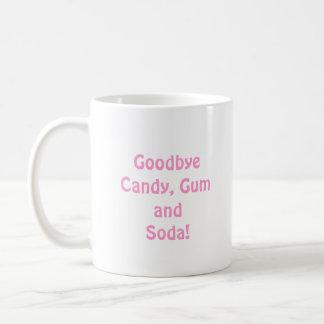 こんにちは支柱のピンクのさようならキャンデー、ゴムおよびソーダ コーヒーマグカップ