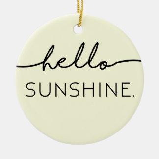こんにちは日光-黄色 セラミックオーナメント