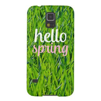 """""""こんにちは春""""のSamsungの銀河系S5 Galaxy S5 ケース"""