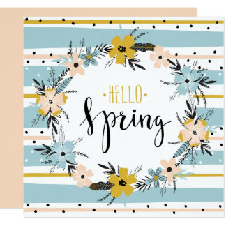 こんにちは春。 カスタムなイースターブランチの招待状 カード