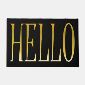 こんにちは歓迎されたドア・マット ドアマット