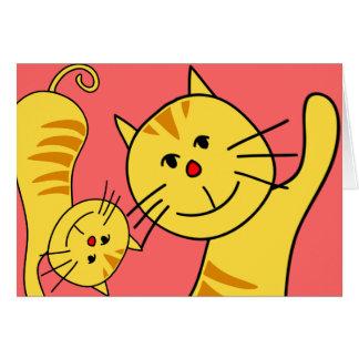 こんにちは猫の空白のなカード カード