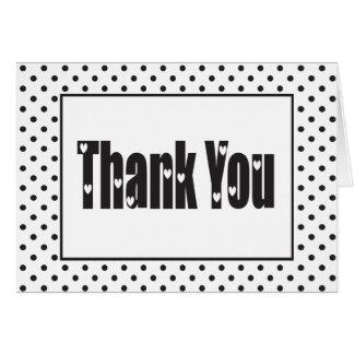 こんにちは白黒水玉模様ありがとう カード