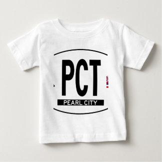 こんにちは真珠都市ステッカー ベビーTシャツ