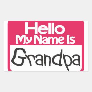 こんにちは祖父 長方形シール