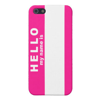 こんにちは私の名前はあります iPhone SE/5/5sケース