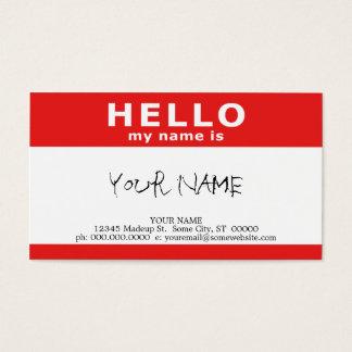 こんにちは私の名前はあります(QRコードと) 名刺