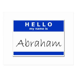 こんにちは私の名前はアブラハムです ポストカード
