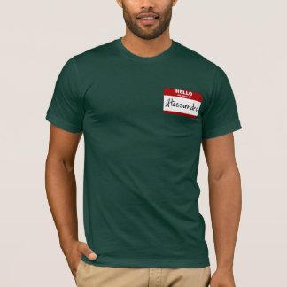 こんにちは私の名前はアレッサンドロはです(赤い) Tシャツ