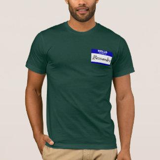 こんにちは私の名前はアレッサンドロはです(青い) Tシャツ