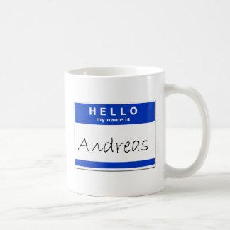 こんにちは私の名前はアンドレアスです コーヒーマグカップ