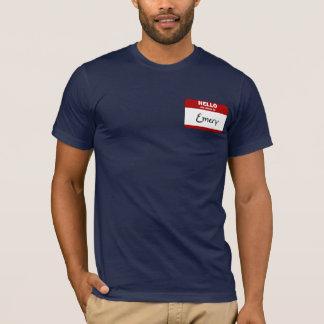 こんにちは私の名前はエメリーはです(赤い) Tシャツ