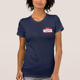 こんにちは私の名前はカミラはです(赤い) Tシャツ