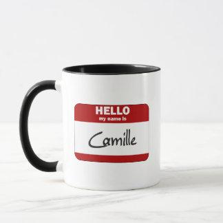 こんにちは私の名前はカミーユはです(赤い) マグカップ