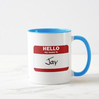 こんにちは私の名前はジェイはです(赤い) マグカップ