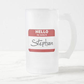 こんにちは私の名前はスティーブンはです(赤い) フロストグラスビールジョッキ
