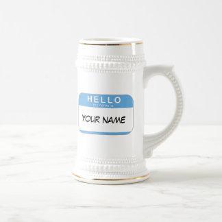 こんにちは私の名前はステインです ビールジョッキ