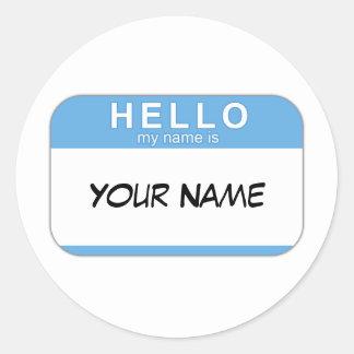 こんにちは私の名前はステッカーです ラウンドシール