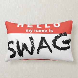 こんにちは私の名前はスワッグの枕です ランバークッション
