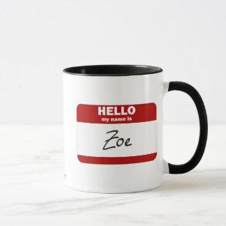 こんにちは私の名前はソエはです(赤い) マグカップ
