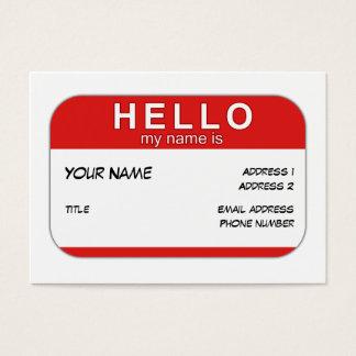 こんにちは私の名前はプロフィールカードです 名刺