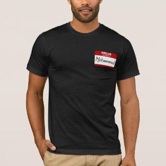 こんにちは私の名前はモハメッドはです(赤い) Tシャツ
