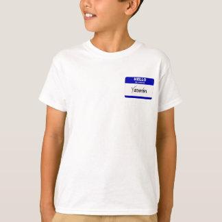 こんにちは私の名前はヤズミンはです(青い) Tシャツ