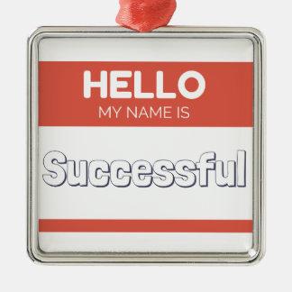 こんにちは私の名前は巧妙です メタルオーナメント