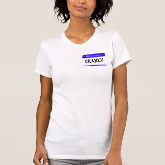 こんにちは私の名前は次のとおりです: 不機嫌 Tシャツ
