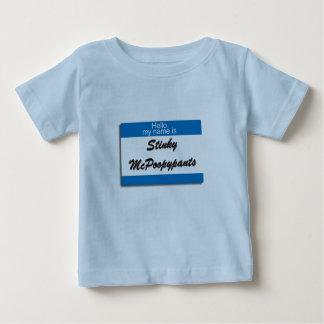 こんにちは私の名前は臭いMcPoopypantsです ベビーTシャツ