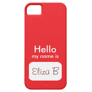こんにちは私の名前は赤い電話箱です iPhone SE/5/5s ケース