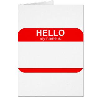 こんにちは私の名前は適用範囲が広いです カード