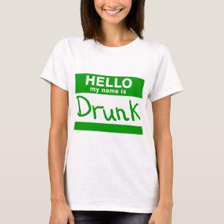 こんにちは私の名前は酔ったTシャツです Tシャツ