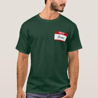 こんにちは私の名前はAlonzoはです(赤い) Tシャツ