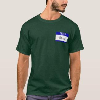 こんにちは私の名前はAlonzoはです(青い) Tシャツ