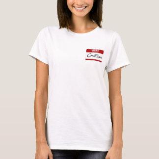 こんにちは私の名前はGretchenはです(赤い) Tシャツ
