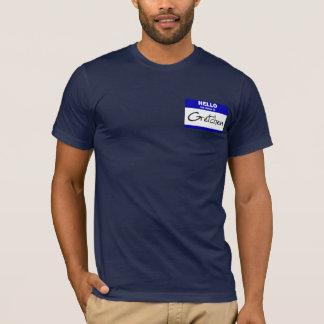 こんにちは私の名前はGretchenはです(青い) Tシャツ