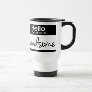 「こんにちは私の名前はHandsomeです トラベルマグ