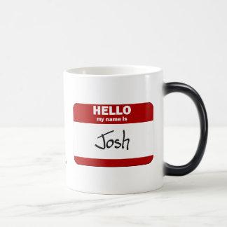 こんにちは私の名前はJoshはです(赤い) モーフィングマグカップ