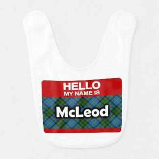 こんにちは私の名前はMcLeodのスコットランドの一族のタータンチェックです ベビービブ