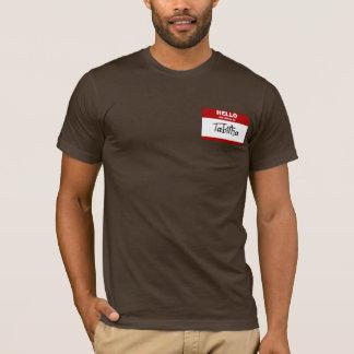 こんにちは私の名前はTabithaはです(赤い) Tシャツ