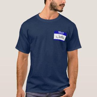 こんにちは私の名前はWestonはです(青い) Tシャツ