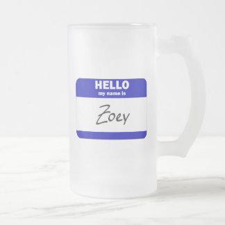 こんにちは私の名前はZoeyはです(青い) フロストグラスビールジョッキ