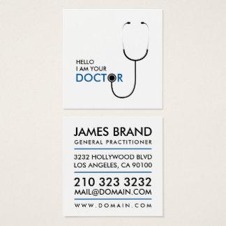 こんにちは私はあなたの医者一般医師です スクエア名刺